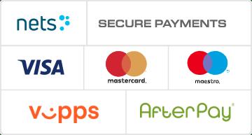 Betalingsmetoder: nets secure payments - visa, mastercard, vipps og afterpay faktura