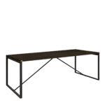 BENNIE Dining table (2 sizes) oak carbon 220